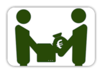 Logo: Barzahlung mit Euro Symbol